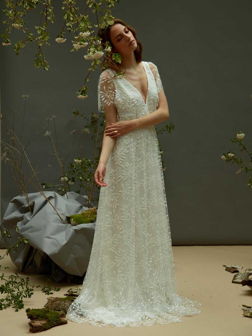 Céline de Monicault - Modèle 36 - Robe de mariée en tulle brodé