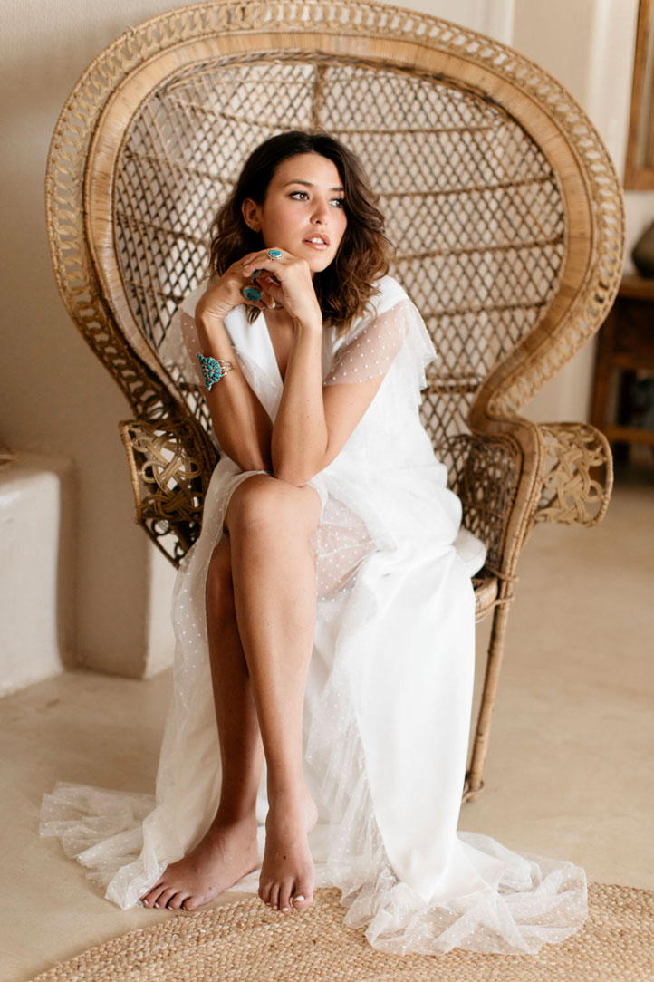 Sophie Sarfati - Hollistic - Robe de mariée plumettis