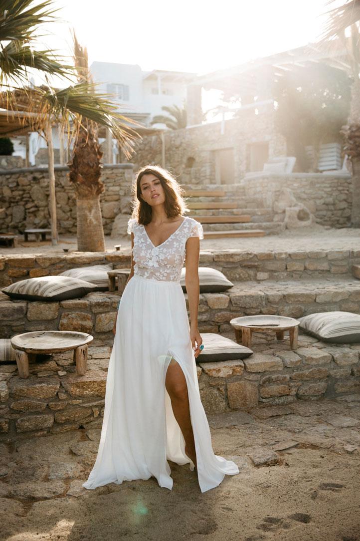 Sophie Sarfati - Moon - Robe de mariée avec une fente