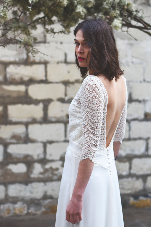 Stéphanie Wolff - Ertée - Robe de mariée dos nu en dentelle