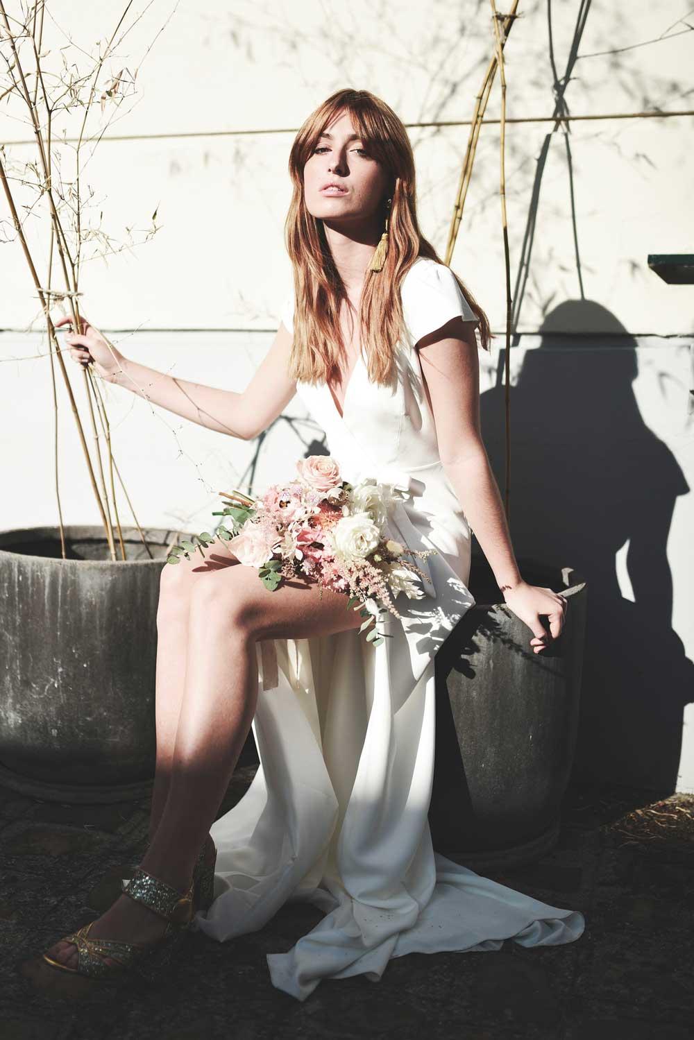 Stéphanie Wolff - La Javanaise - Robe de mariée manches courtes
