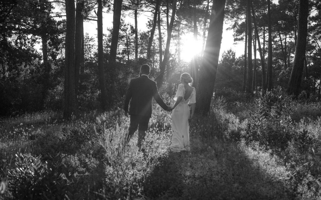 Gabrielle et Benjamin • Un mariage végétal au Cap Ferret